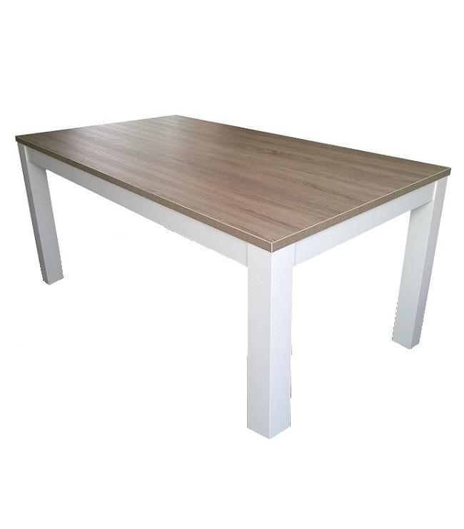 Eettafel Wit 140 Cm.Eettafel Milaan Licht Bruin Eiken Wit Standaard 90 X 140 Cm