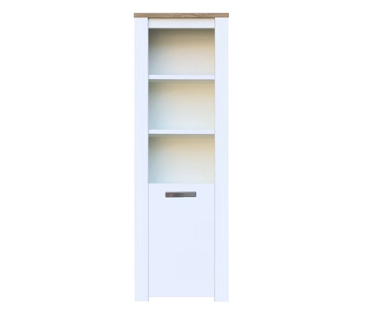 Moderne Eiken Boekenkast.Boekenkast Milaan Licht Bruin Eiken Wit 55 Cm Ik Woon Modern Nl